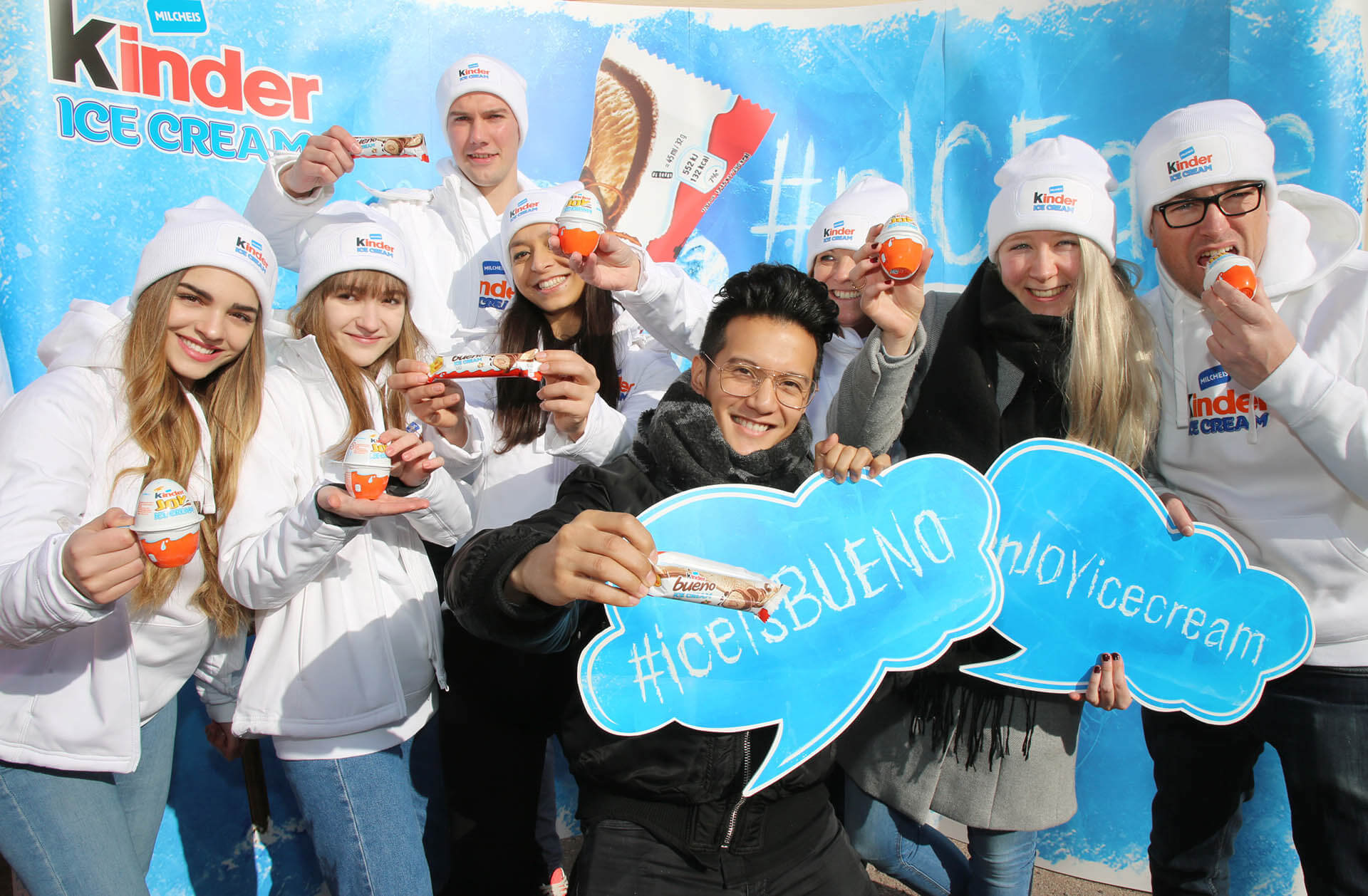 Kinder Ice Cream Promotiontour Wien